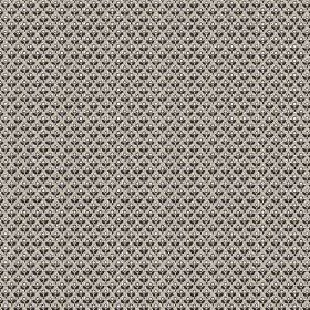 Julia (Linen Union) - 1 - Linen fabric with a small, repeated pattern in black, grey and white