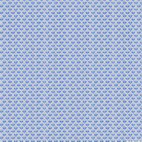 Julia (Linen Union) - 2 - A patterned linen fabric with small shapes in shades of blue