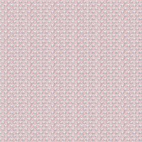 Julia (Linen Union) - 3 - A small pattern in pale pink, grey and white on linen fabric