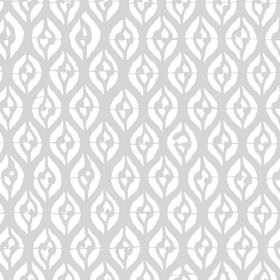 Epsilon (Linen Union) - 1 - Grey curvy lines patterning white linen fabric