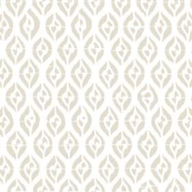 Epsilon (Linen Union) - 2 - Linen fabric with a pattern of curved lines in stone and cream colours