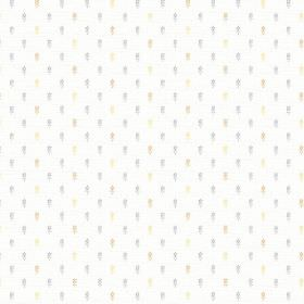 Pondicherry (Cotton) - 1 - Bright white cotton fabric flecked with grey, cream and light blue