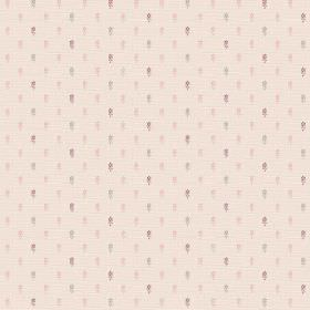 Pondicherry (Cotton) - 3 - Light pink cotton fabric with rows of tiny grey and pink rectangular shaped dots