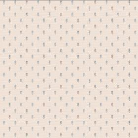 Pondicherry (Linen Union) - 4 - Cream coloured linen fabric as a background for many light blue and grey dashes