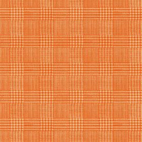 Chemrey (Cotton) - 5 - Cotton fabric in bright orange, with a checked, woven effect pattern