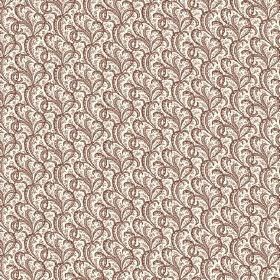 Topa (Cotton) - 2 - Fabric made in white cotton, with  repeated design of small dark brown swirls printed all over