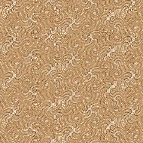 Zangla (Linen Union) - 1 - Fabric made from beige and cream coloured linen with a pattern of short, thick wavy lines