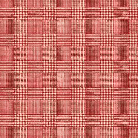 Chemrey (Linen Union) - 2 - Red and cream coloured woven, checked linen fabric