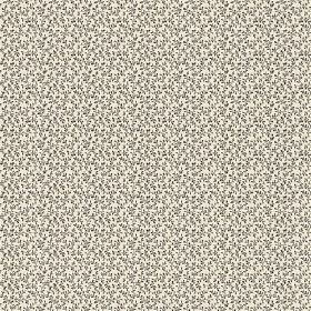 Amalia (Linen Union) - 1 - A pattern of black and grey dots scattered randomly over off-white linen fabric