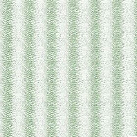 Martine (Cotton) - 3 - Hazily striped, patterned pale green and white cotton fabric