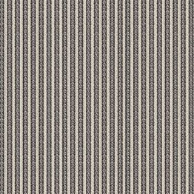 Flore (Cotton) - 1 - Cotton fabric with alternating dark and light grey stripes, all of which have a subtle pattern