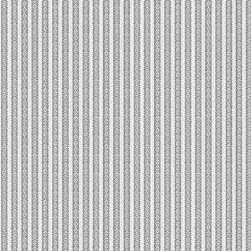 Flore (Cotton) - 2 - Patterned stripes of mid and very light grey stripes printed onto cotton fabric