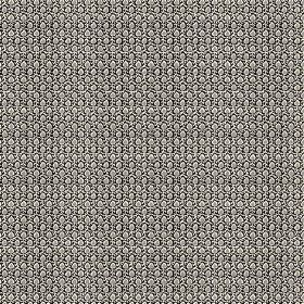 Melissa (Cotton) - 1 - Black cotton fabric with a repeated pattern of tiny iron grey dots