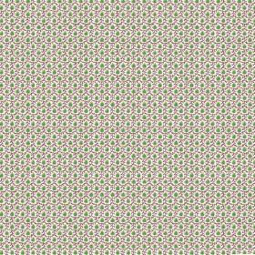 Melissa (Linen Union) - 2 - Patterned linen fabric featuring a tiny design in white, green and purple