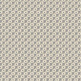Olivia (Linen Union) - 1 - Patterned linen fabric with tiny ovals and circles in cream, grey and blue-grey