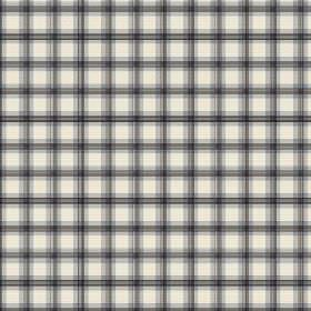 Safia (Cotton) - 1 - Cotton fabric featuring a regular black, dark grey and cream checked pattern