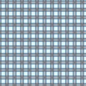 Safia (Cotton) - 3 - Horizontal and vertical blue and grey stripes printed on an ice blue coloured cotton fabric background
