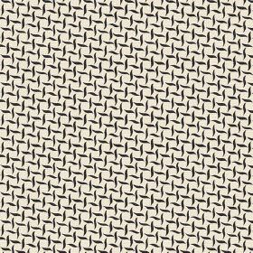 Maria (Linen Union) - 1 - Cream coloured linen as a background to a pattern of small horizontal and vertical wavy black lines