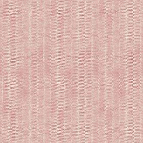 Plover (Cotton) - 2 - A subtly striped cotton fabric in pink-red, which appears to be slightly faded due to the very pale colour