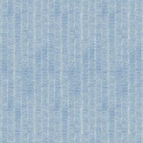 Plover (Cotton) - 3 - Denim blue coloured cotton fabric with a subtle, pale, vertical stripe