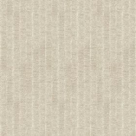 Plover (Cotton) - 6 - Subtle cream stripes running down a light grey-brown cotton fabric
