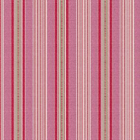 Perpetue (Linen Union) - 3 - Vertical stripes in two different shades of pink, with narrow bands of white and grey, on linen fabric