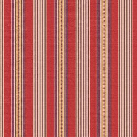 Perpetue (Cotton) - 8 - Gold, purple and terracotta coloured stripes printed on fabric made from cotton