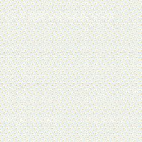 Lierre (Cotton) - 7 - A very subtle pattern of pale, pastel green and blue-grey colours printed on white cotton fabric
