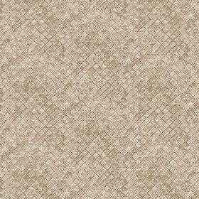 Raphia (Linen Union) - 1 - Grey linen fabric with a pattern which gives the effect of raised, textured squares
