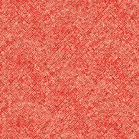 Raphia (Cotton) - 2 - Orange-red coloured cotton fabric which has the effect of having textured squares