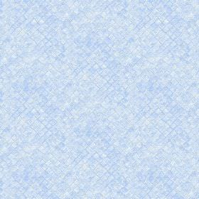 Raphia (Cotton) - 7 - Cotton fabric with a square print and textured effect in powder blue and white
