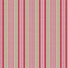 Perpetue (Linen Union) - 1 - Striped linen fabric with vertical bands of grey with baby and raspberry shades of pink