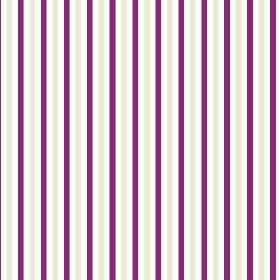 Tresco (Cotton) - 2 - Narrow, even stripes of dark purple and light grey printed on white cotton fabric