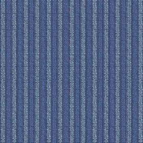 Rilly Stripe (Linen Union) - 2 - Dark and light blue linen fabric with patterned stripes