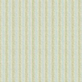 Rilly Stripe (Cotton) - 5 - Striped light blue and green cotton fabric which has a pattern which gives a textured effect