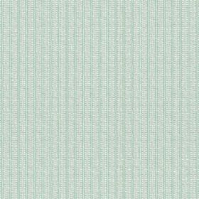 Rilly Stripe (Cotton) - 6 - Patterned grey stripes which look slightly textured on light blue-green cotton fabric