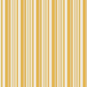 Palmyra Stripe (Linen Union) - 2 - Linen fabric covered in vertical stripes of mustard yellow, light yellow and white