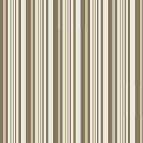 Palmyra Stripe (Cotton) - 3 - Striped cotton fabric in shades of light grey, cream, white and dark grey-green