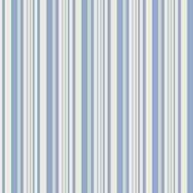 Palmyra Stripe (Cotton) - 4 - Stripes of cobalt blue, cream, light pink and silvery grey repeatedly printed over cotton fabric