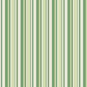 Palmyra Stripe (Cotton) - 5 - Vertical stripes covering cotton fabric in white and various different shades of green