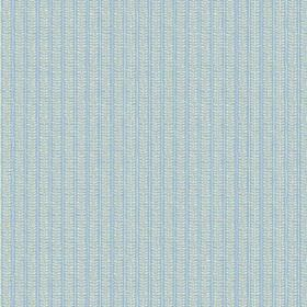 Rilly Stripe (Cotton) - 1 - Striped baby blue and light grey cotton fabric