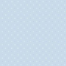 Ringstead Bay (Linen Union) - 1 - Linen fabric in light blue, with a design of rows of blue dots and small white circles