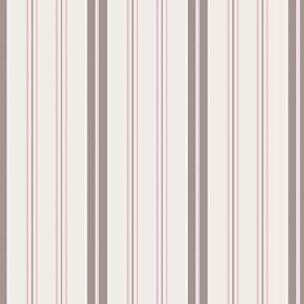 Kimmeridge Bay (Cotton) - 3 - Pale pink, rose pink and grey striped cotton fabric