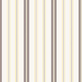 Kimmeridge Bay (Linen Union) - 4 - Purple, grey and yellow stripes printed on cream coloured fabric made from linen