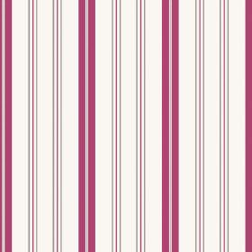 Kimmeridge Bay (Linen Union) - 5 - A design of dark pink, purple and grey stripes on a white linen fabric background