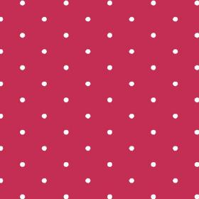 Seatown Small (Linen Union) - 2 - Polka dot linen fabric featuring small white dots on a bright red background