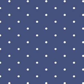 Seatown Small (Linen Union) - 4 - Small white polka dots printed on navy blue linen fabric