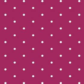 Seatown Small (Linen Union) - 11 - Dark pink-purple linen fabric covered in rows of small white polka dots