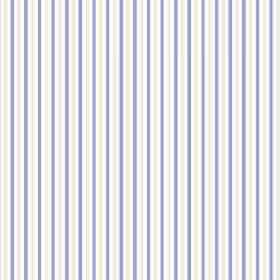 Arwen Stripe (Cotton) - 3 - Narrow stripes of white, cobalt blue and light grey printed on cotton fabric