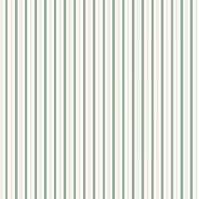 Arwen Stripe (Linen Union) - 4 - Narrow stripes of green, light grey and white, regularly and evenly spread over linen fabric